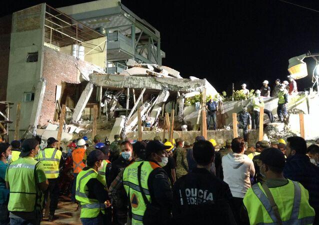El colegio Rébsamen, destruido por el terremoto en Ciudad de México