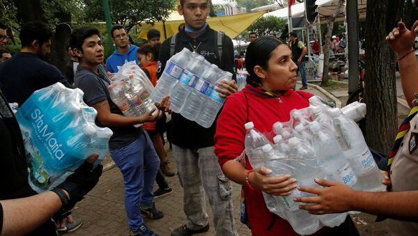Afectados por el terremoto de México - Sputnik Mundo