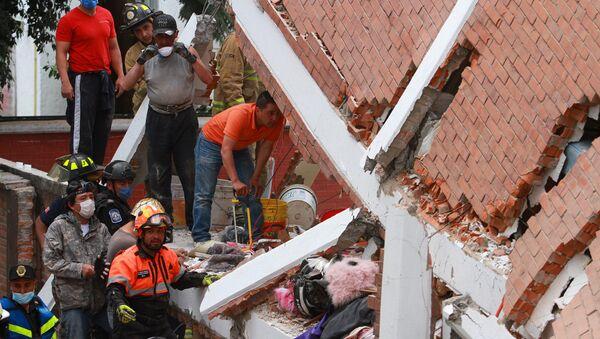Las consecuencias del terremoto en México (archivo) - Sputnik Mundo
