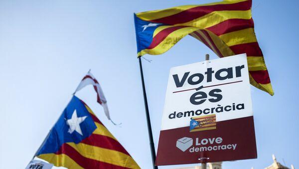 Protestas en Barcelona, Cataluña (archivo) - Sputnik Mundo