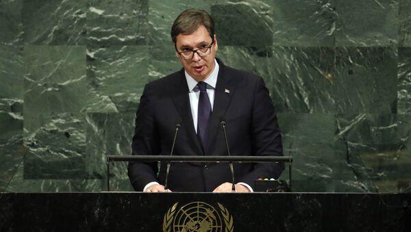 Aleksandar Vucic, presidente de Serbia - Sputnik Mundo