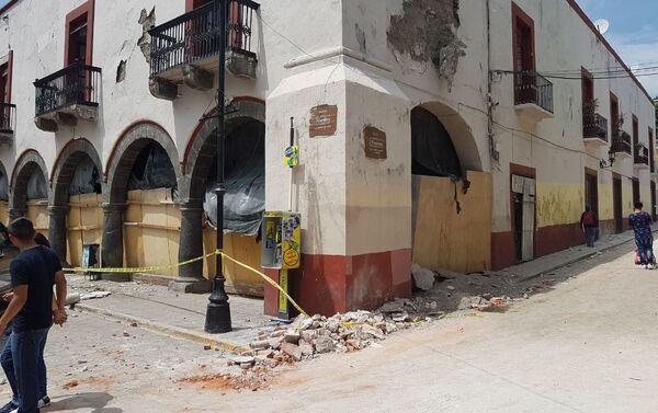 Ciudad de Atlixco tras el terremoto - Sputnik Mundo