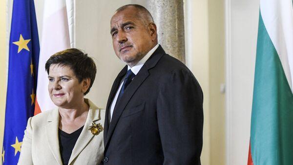 Beata Szydlo, primera ministra de Polonia, y Boiko Borísov, primer ministro de Bulgaria - Sputnik Mundo