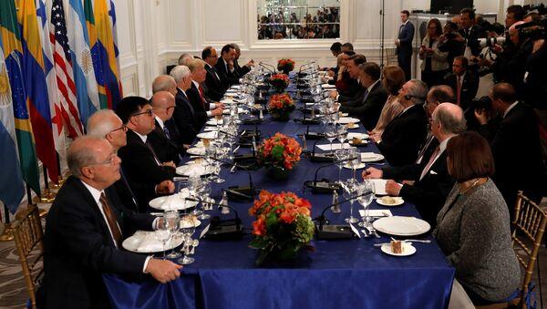 Donald Trump, presidente de EEUU, se reúne con líderes latinoamericanos en Nueva York - Sputnik Mundo