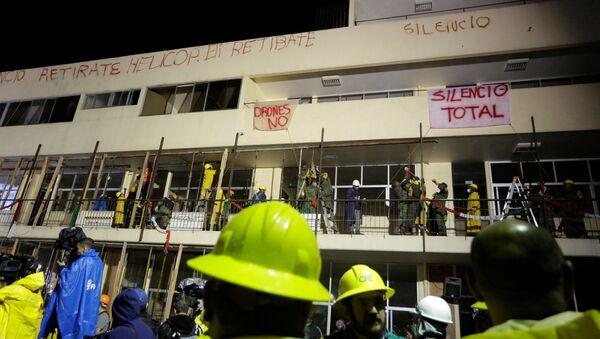 Una escuela derrumbó en México - Sputnik Mundo