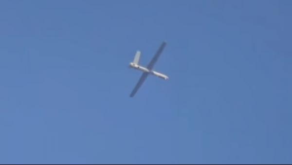 El dron ruso Orion durante una misión en Siria (captura de pantalla) - Sputnik Mundo