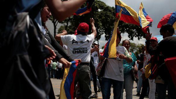 Partidarios del presidente de Venezuela, Nicolás Maduro - Sputnik Mundo