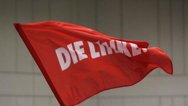 Bandera con el logo de Die Linke - Sputnik Mundo