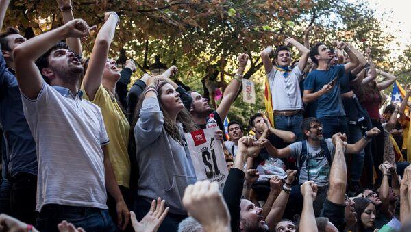 Protestas en Barcelona, Cataluña - Sputnik Mundo