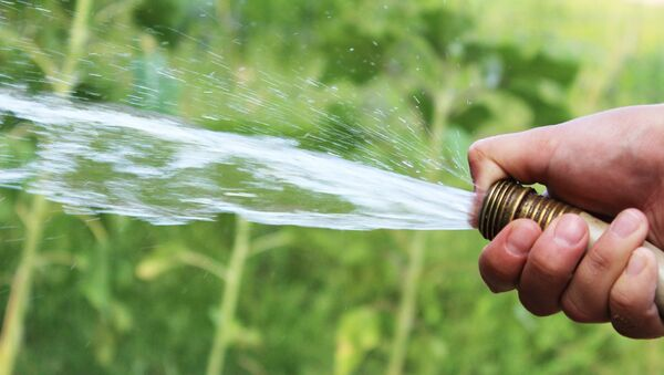 Agua sale de un conducto - Sputnik Mundo