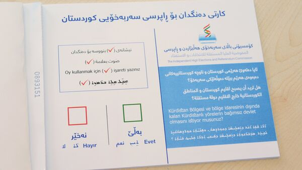 Referéndum en Kurdistán - Sputnik Mundo
