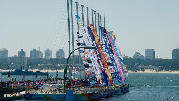 Arribo de regata Clipper al puerto de Punta del Este, Uruguay - Sputnik Mundo