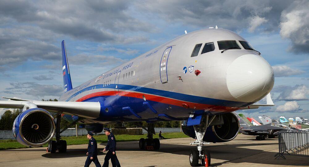 Avión de vigilancia ruso Tu-214ON