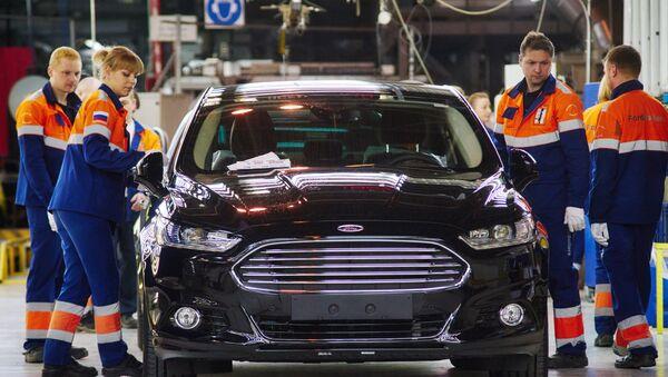La fábrica Ford Sollers en la región de Leningrado - Sputnik Mundo