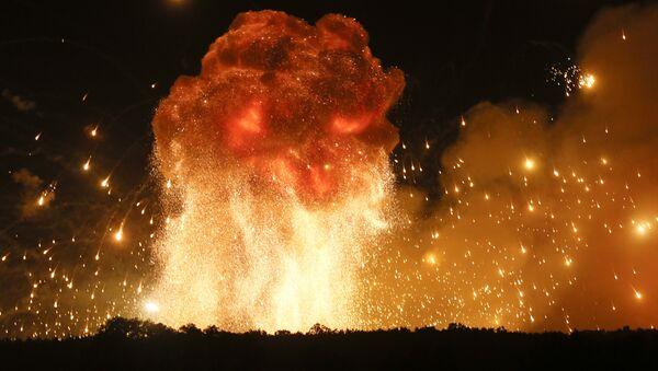 Una explosión (imagen referencial) - Sputnik Mundo