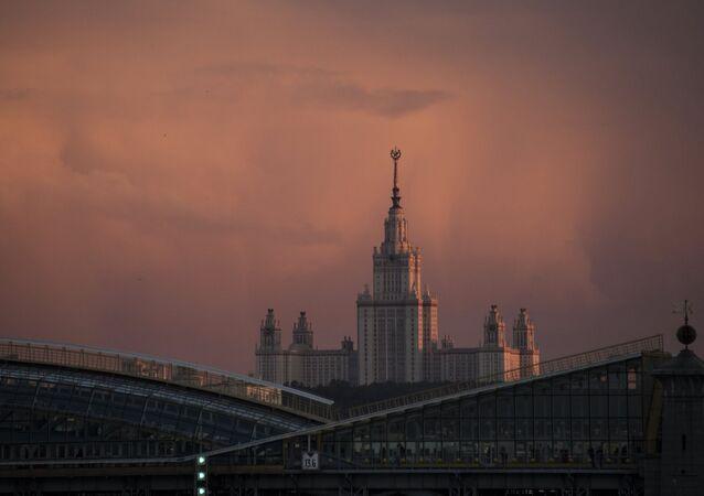 El edificio de la Universidad Lomonósov de Moscú