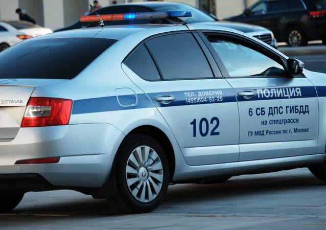Coche de policía rusa (imagen referencial)