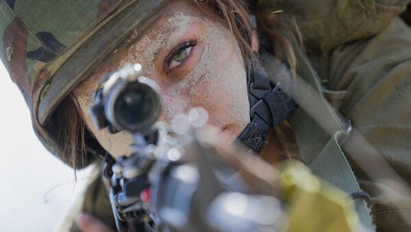 Una soldado israelí - Sputnik Mundo