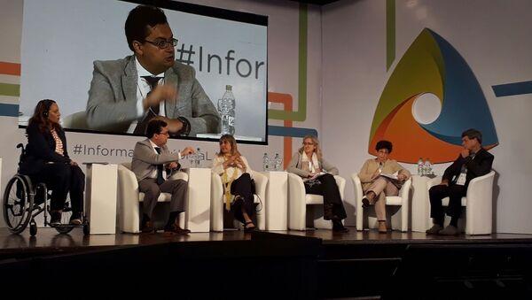 Panel sobre derechos humanos y acceso a la información en el evento sobre transparencia organizado por la UNESCO en Montevideo. - Sputnik Mundo