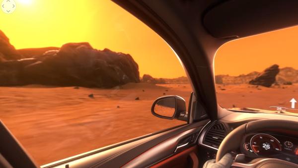 Un BMW X3 navegando Marte en un vídeo publicitario - Sputnik Mundo