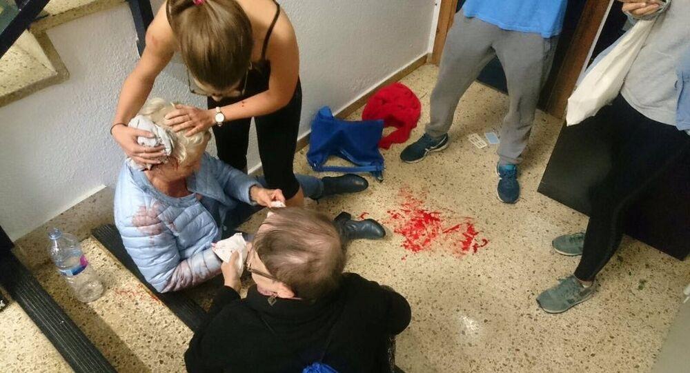 Una mujer herida en Barcelona durante referéndum catalán
