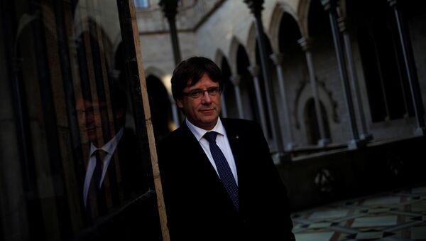 Carles Puigdemont, el presidente catalán - Sputnik Mundo