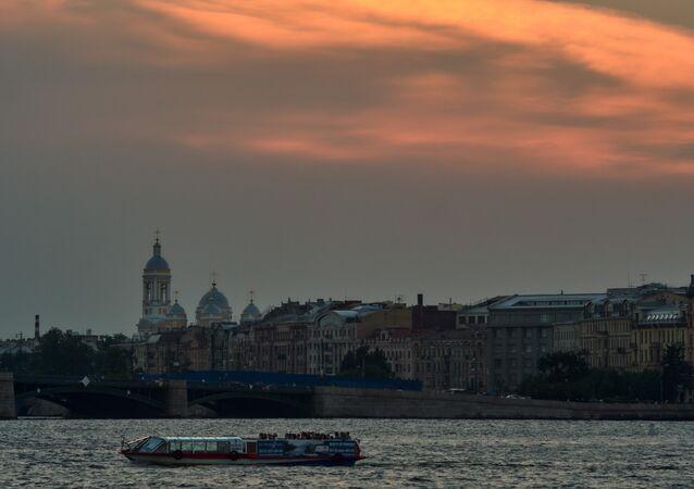 La ciudad de San Petersburgo, Rusia