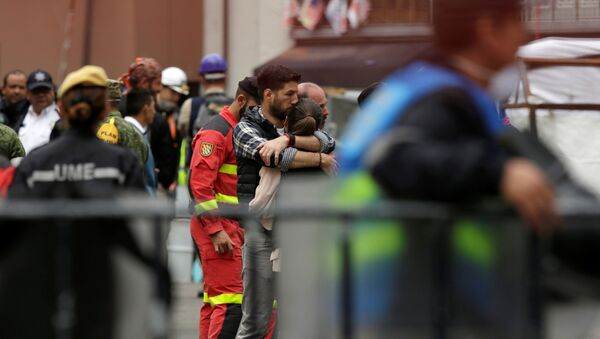 Personas afectadas por el terremoto en la Ciudad de México - Sputnik Mundo