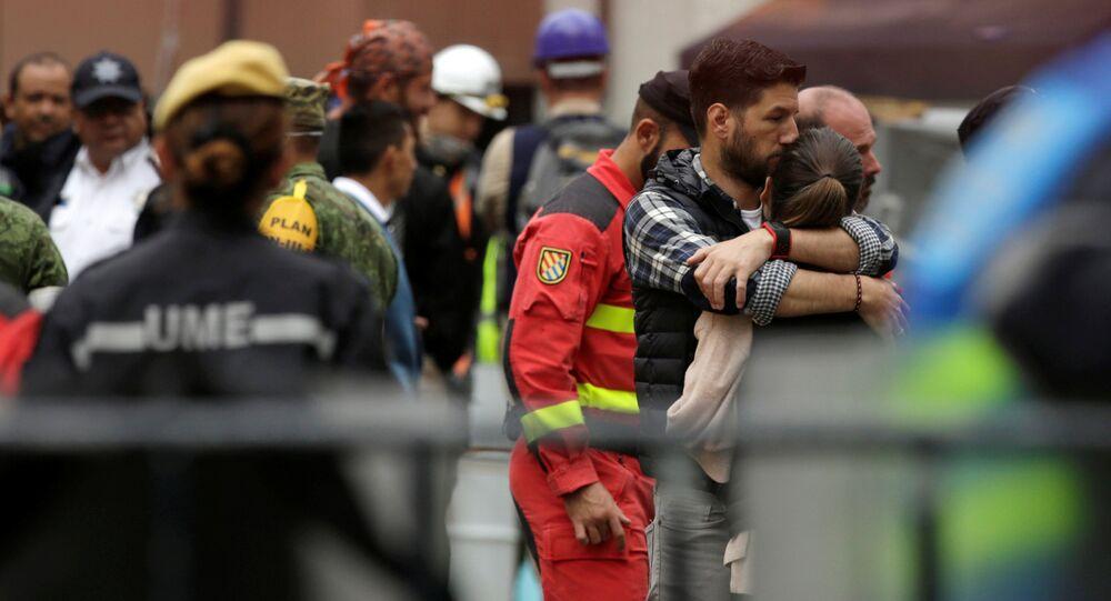 Personas afectadas por el terremoto en la Ciudad de México