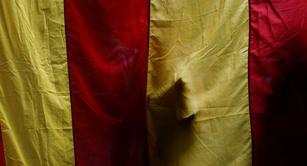 La bandera de Cataluña