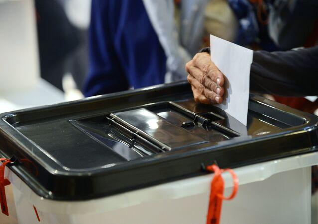Una urna de votación (imagen referencial)