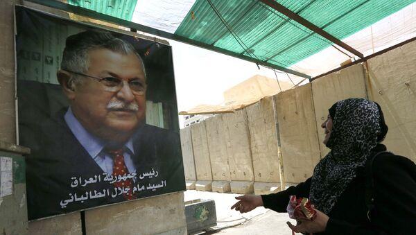 El retrato de Yalal Talabani, líder kurdo y expresidente de Irak - Sputnik Mundo