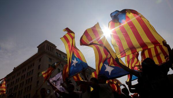 Banderas independentistas de Cataluña - Sputnik Mundo