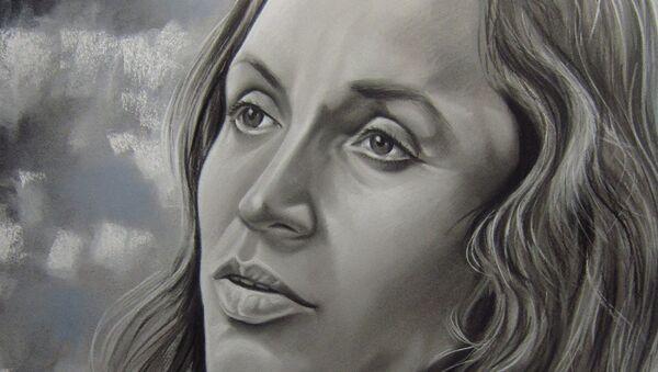 Un mural con la cara de Violeta Parra - Sputnik Mundo