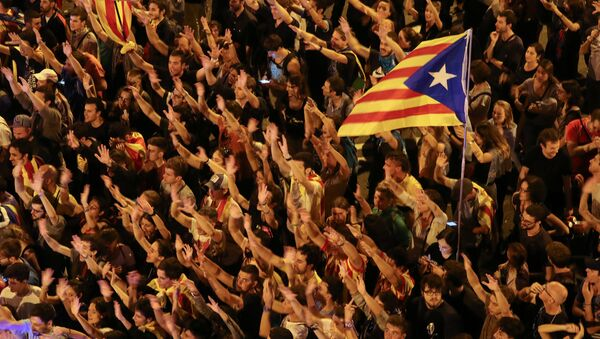 Las manifestaciones en Barcelona - Sputnik Mundo