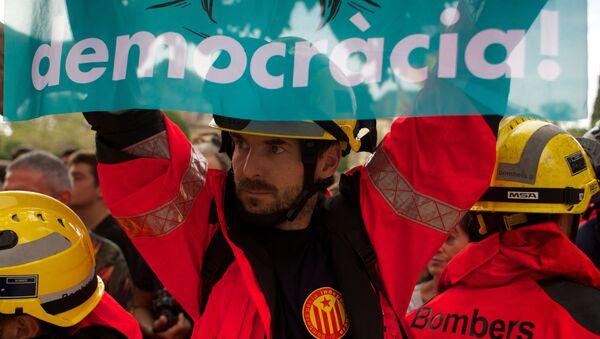 La huelga general en Catalúña a favor de la independencia - Sputnik Mundo