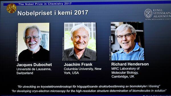 Tres investigadores, ganadores del Premio Nobel de Química 2017 - Sputnik Mundo