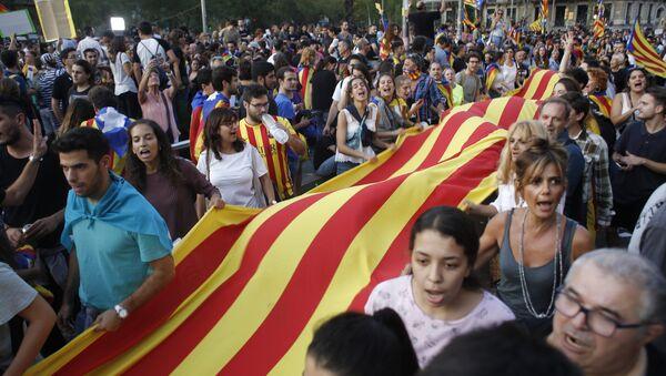 Los partidarios de la independencia de Cataluña (archivo) - Sputnik Mundo