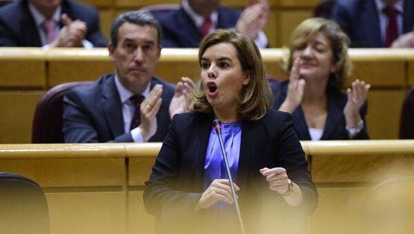 Soraya Sáenz, la vicepresidenta del Gobierno español - Sputnik Mundo