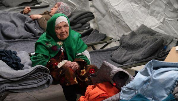 Bibihal Uzbeki, refugiada afgana - Sputnik Mundo