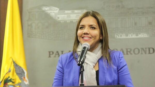 María Alejandra Vicuña, vicepresidenta encargada de Ecuador - Sputnik Mundo