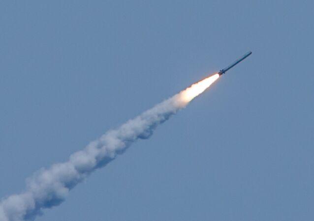 Lanzamiento de misiles Kalibr (archivo)