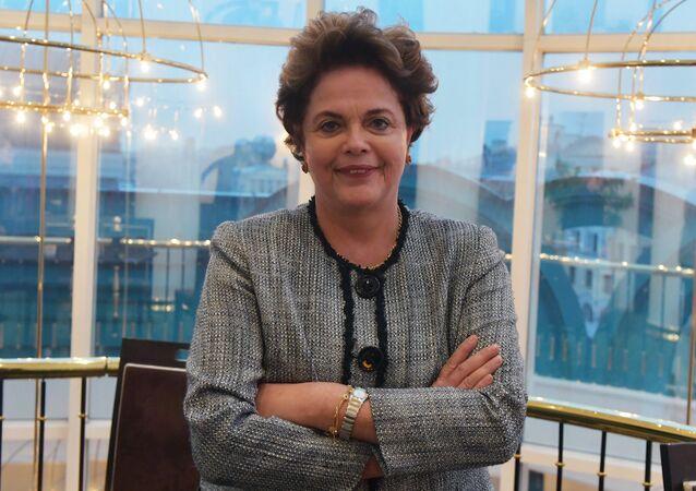La exmandataria brasileña Dilma Rousseff