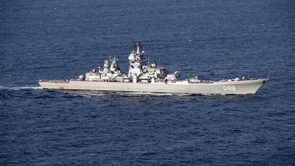 Image of the Russian Warships Petr Velikiy. - Sputnik Mundo