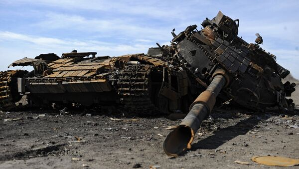 Ситуация в селе Никишино Донецкой области - Sputnik Mundo