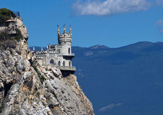 El castillo Nido de golondrina en Crimea (archivo)