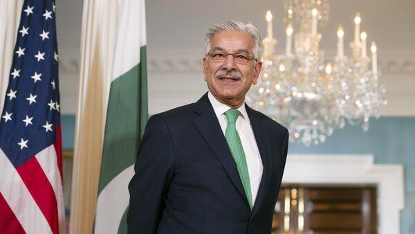 Khawaja Asif, ministro de Asuntos Exteriores de Pakistán - Sputnik Mundo