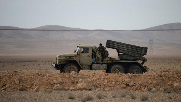 Un sistema de misiles Grad en Siria - Sputnik Mundo