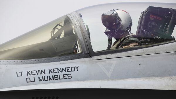 Un piloto estadounidense en Siria - Sputnik Mundo