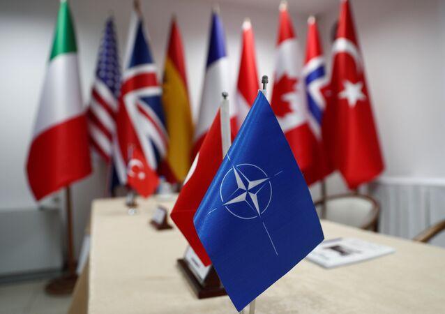 Las banderas de OTAN y sus miembros
